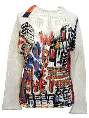 COBY Knit Sweater - Made 2002 - OFFWHITE - S
