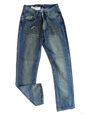 IMOLA - handbleached loose-fit jean, made 2001 - blue...