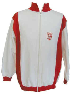 Old School - Mens 2TONE Track Jacket, made 2001 - WHITE - M