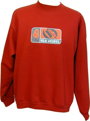 Old School - Mens MUSIC TWO Patch Sweatshirt, made 2000 -...