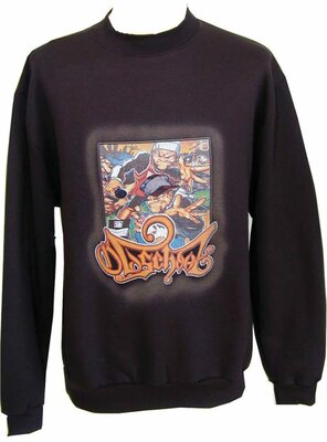 Old School - Mens RAPPED Airographie Sweatshirt, made...