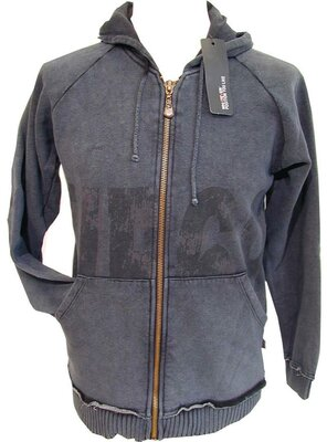 RIORDAN - hooded sweat jacket mit print, made 2000 -...