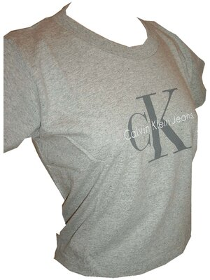 Calvin Klein Jeans - ladies BABY LOGO cropped shirt, made...