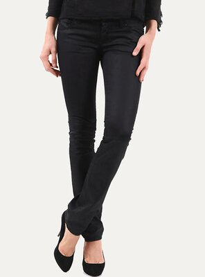 Sexy Women - Damen PAMELA Raw Slim Fit Jeans BLACK W28