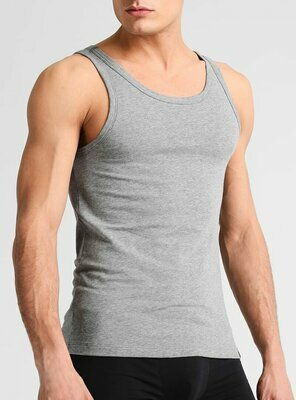 Calvin Klein - Mens RIBBED Tank Top, made 1996 GRAY M