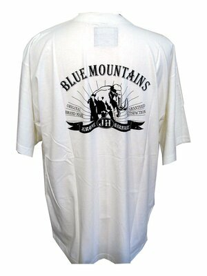 BLUE MOUNTAINS - vintage rundhals t-shirt mit print -...