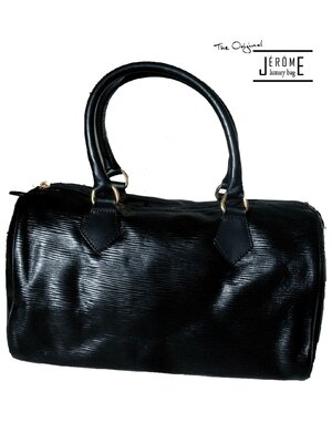 KELLY - classic line luxury designer handbag - black -...