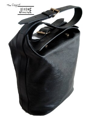 JENNIFER - luxury designer leather handbag - black -...