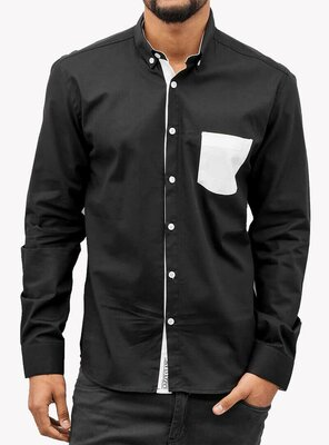 Cazzy Clang - Mens LION II Button Down Shirt BLACK M