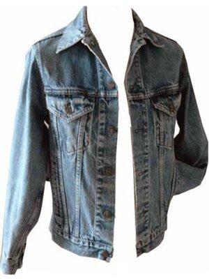 GAP - mens CLASSIC RUSTIC used denim jacket, made 1990 -...