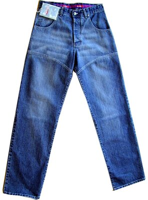 Old School - Mens DJ PLAYER Baggy Jeans, made 2000 - DARK...