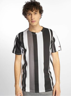 Southpole - Mens VERTICAL Block Stripe T-Shirt BLACK M