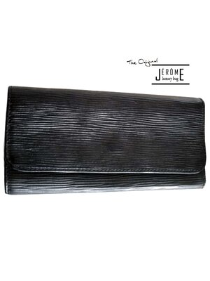 FRENCH - luxury classic line leather wallet - black -...