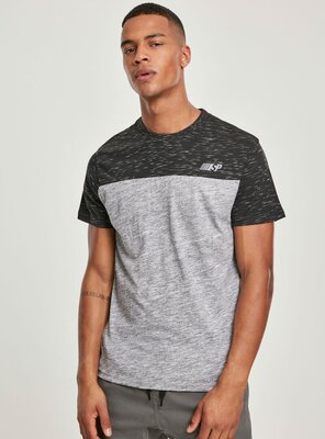 Southpole - Mens COLOR BLOCK Tech T-Shirt   MARLED GREY S
