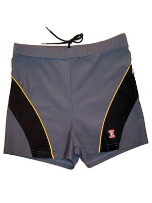 Twin Life ATHENE - mens athletic boxer swim trunks - grey...