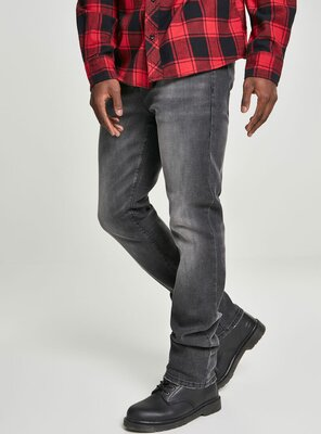Brandit - Mens ROVER Straight Fit Jeans BLACK W38/L34
