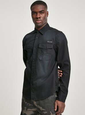 Brandit - Mens HARDEE Denim Shirt BLACK XL