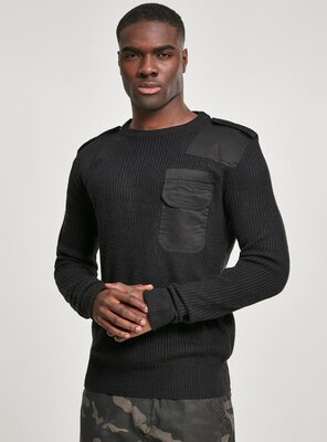 Brandit - Mens BW Workwear Knit Sweater BLACK 3XL