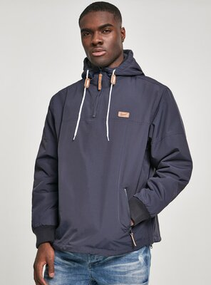 Brandit - Mens LUKE Pull Over Windbreaker NAVY S