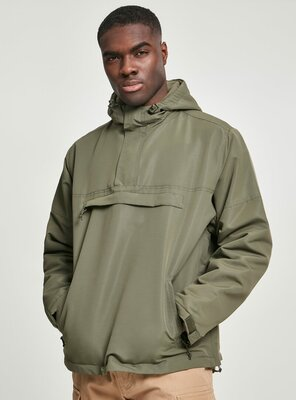 Brandit - Mens CLASSICO Pull Over Windbreaker OLIVE XXL