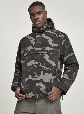 Brandit - Mens CLASSICO Pull Over Windbreaker DARK CAMO M