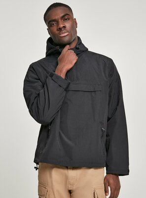 Brandit - Mens CLASSICO Pull Over Windbreaker BLACK XXL