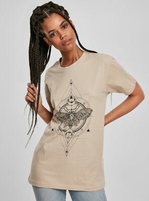 Mister Tee - Ladies MOTH Graphic T-Shirt SAND XS