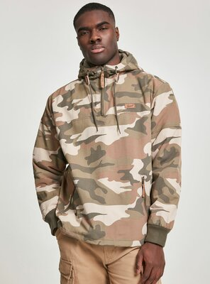 Brandit - Mens LUKE Pull Over Windbreaker WOOD CAMO XXL