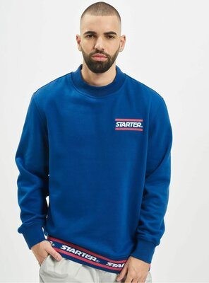 Starter - Mens WORDING Sweatshirt BLUE S