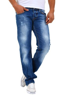 Denim Republic - herren 3154-3485 handveredelte straight...