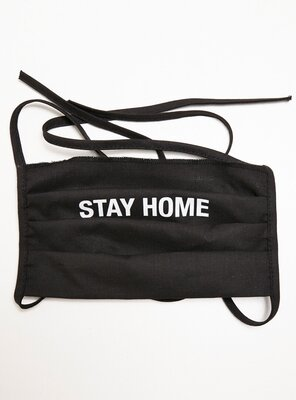 Mister Tee - STAY HOME Face Mask 2-Pack BLACK ONE SIZE