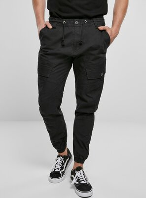 Brandit - Mens RAY Vintage Cargo Trousers BLACK S