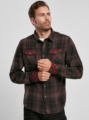 Brandit - Mens DUNCAN Check Shirt BROWN S