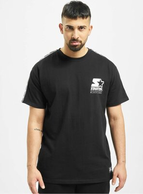 Starter - Mens LOGO TAPED T-Shirt BLACK XS