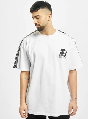 Starter - Mens LOGO TAPED T-Shirt WHITE XS