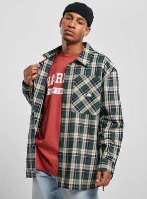 Southpole - Mens CHECK Flannel Shirt GREEN S