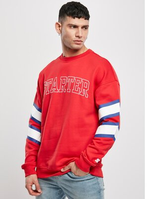 Starter - Mens TEAM FRONT Sweatshirt RED S