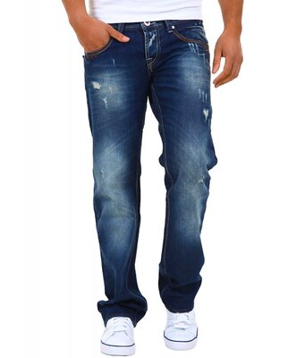 Denim Republic - mens 3194 destroyed low waist straight...
