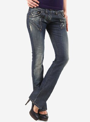 BSA Concept - Ladies BSAP3139 Bootcut Jeans DARK BLUE W29