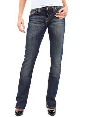 BSA Concept - Ladies BSAP4174 Straight Leg Jeans DARK...