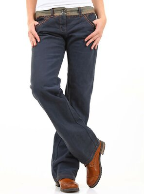 525 -  Ladies 25D1P401 2-Pocket Straight Leg Chino - NAVY...