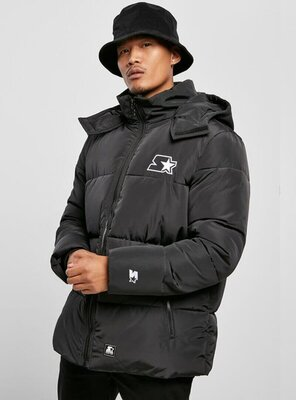Starter - Mens Puffer Winter Jacket BLACK S