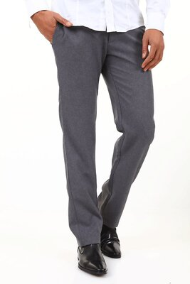Absolut Joy - mens BREDLEY Classic Slim Fit Pants - GRAY - M