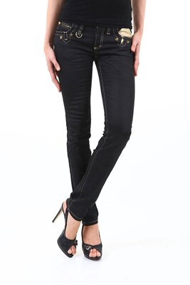 Sexy Women - damen BOHEMIAN 5pocket stretch skinny jeans...