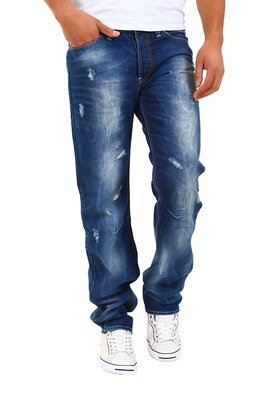 Denim Republic - mens 3243-3901 hand finishing used jeans...