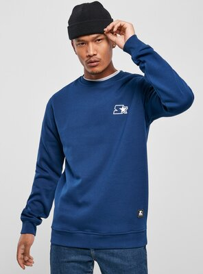 Starter - Mens Small Logo Sweatshirt BLUE NIGHT M