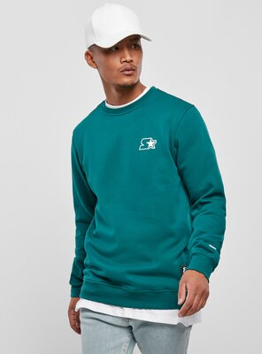 Starter - Mens Small Logo Sweatshirt RETRO GREEN S