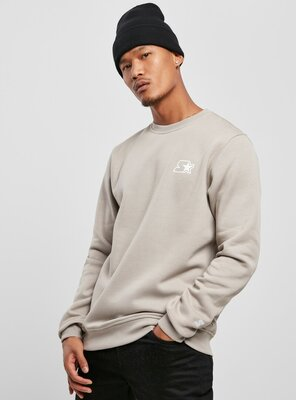 Starter - Mens Small Logo Sweatshirt GREY XXL