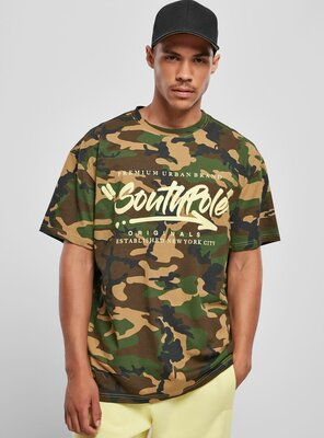 Southpole - Mens SP Short Sleeve Logo T-Shirt KOREAN CAMO S