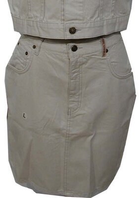 PEPA - 5pocket fade out gabardine denim skirt - var....